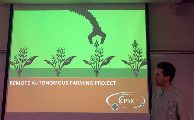 Pitching a remotely operated greenhouse