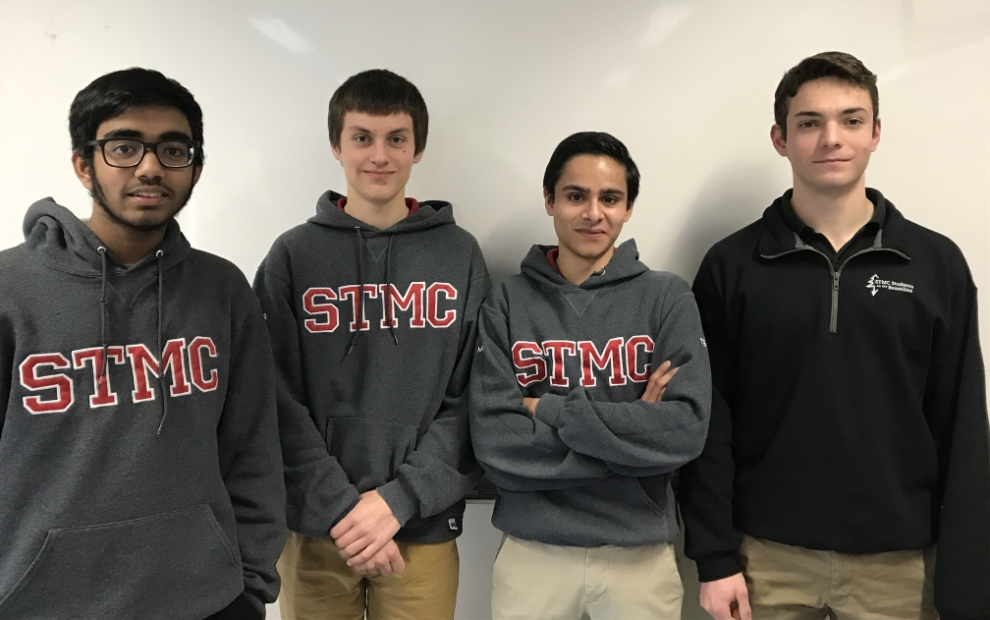Left to right: Ethan Rajkumar, Philip Stachura, Yousef Mian and Ryan Rizzo, St. Thomas More Collegiate