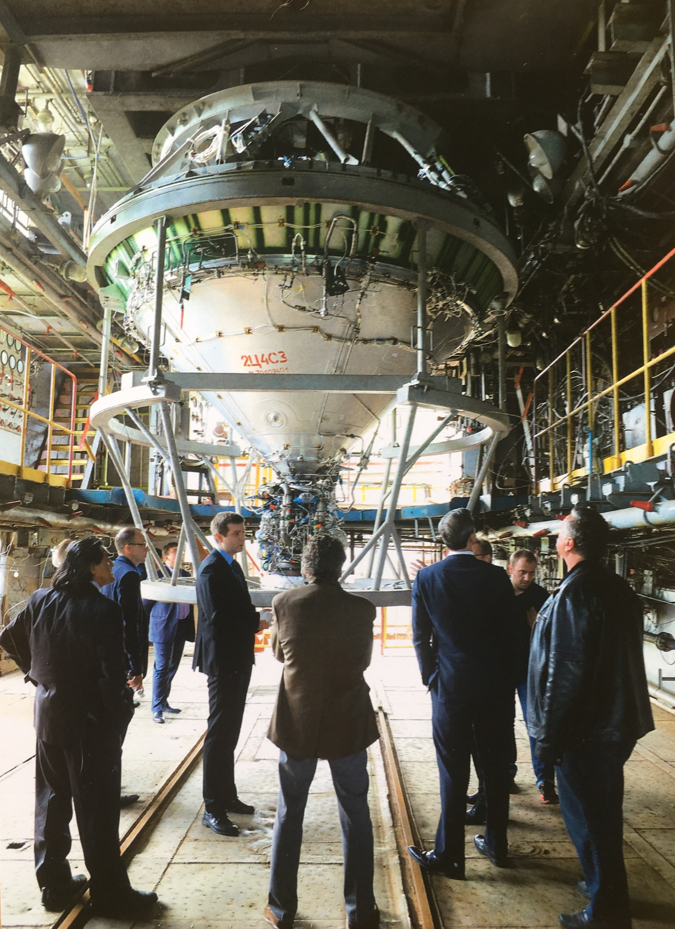 Cyclone 4M full upper stage propulsion system in preparation for acceptance hot fire test expected in July or August