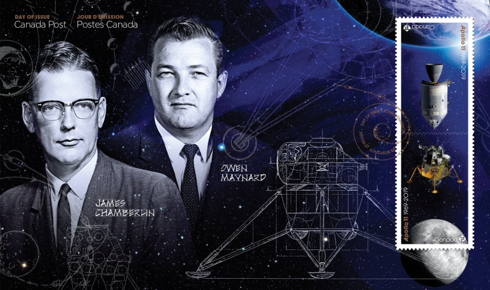 Canadians James (Jim) Chamberlin and Owen Maynard worked on critical aspects of the Apollo program