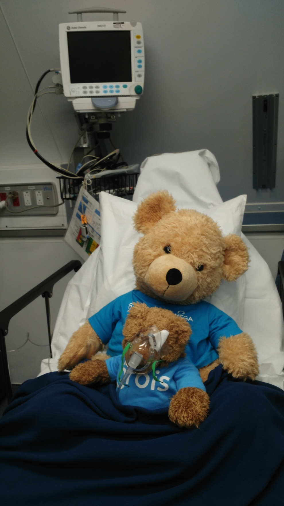 """Every child who receives an operation on board the airplane receives a complementary teddy bear. """"Teddy"""" undergoes the same eye procedure as the child, to make the operation less scary"""