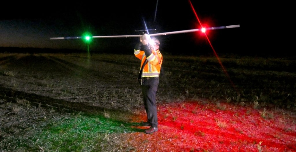 The HiDRON moments before lift-off at the Canadian Space Agency's STRATOS Balloon Base in Timmins, Ontario.